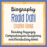 Roald Dahl Biography Informational Texts Activities