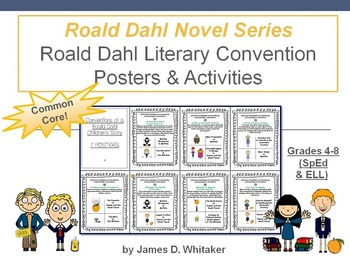 Roald Dahl Literary Conventions Posters and Activities Common Core
