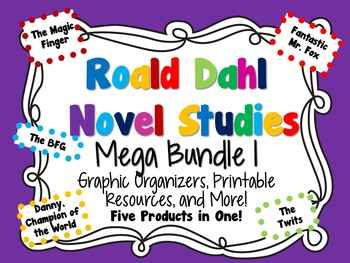 Roald Dahl Novel Studies Mega Bundle 1:  UPDATED!