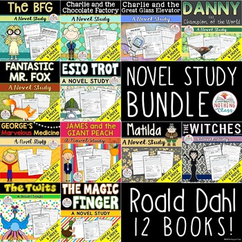Roald Dahl Novel Study Unit Growing Bundle
