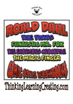 Roald Dahl Novel Study Worksheet Bundle 4 Pack