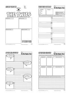 Roald Dahl Novel Study Worksheet Bundle 5 Pack