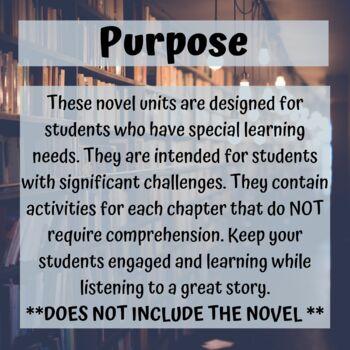 Roald Dahl Novel Unit Bundle for Special Education