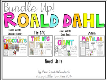 Roald Dahl Novel Units {The Bundle of 4}
