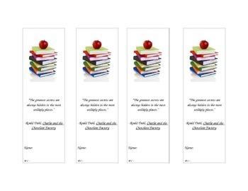 Roald Dahl Quote Bookmark