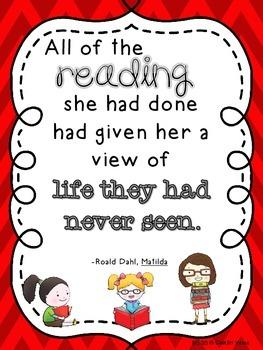 "Roald Dahl Quote ""Reading"" Poster"