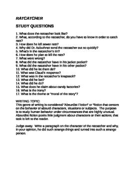Roald Dahl Ratcatcher Questions