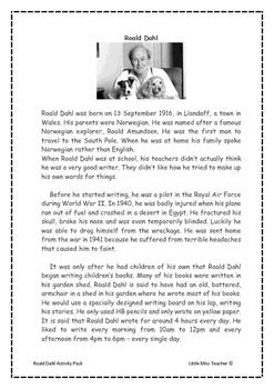 Roald Dahl Resource Pack