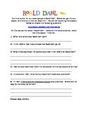 Roald Dahl Scavenger Hunt for Activation or Introduction Activity