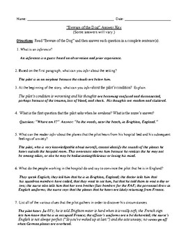 Three Roald Dahl Stories: Worksheets (or Tests), Commonalities, and Answer Key