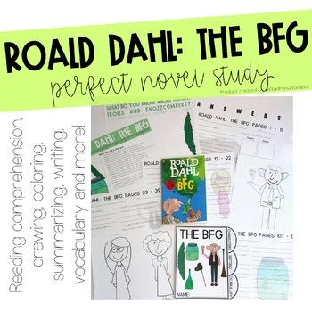 Roald Dahl Bfg Worksheets Teaching Resources TpT