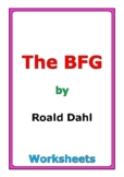 """Roald Dahl """"The BFG"""" worksheets"""