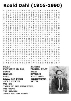 Roald Dahl Word Search