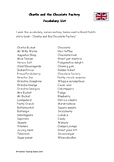 Roald Dahl's 'Charlie and the Chocolate Factory' - Vocabulary List (PDF)