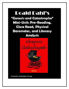 "Roald Dahl's ""Genesis and Catastrophe"" Short Story Close Read w/Holocaust Themes"