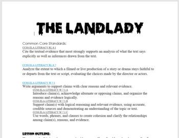"Roald Dahl's ""The Landlady"" Trial (Great for Halloween!)"