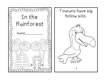Roaming the Rainforest {Math and Reading Mini Unit}