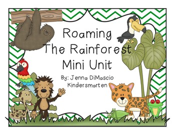 Roaming the Rainforest {Math and Reading Mini Unit}