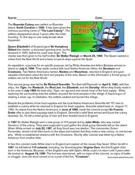 Roanoke Colony: A Mystery in History