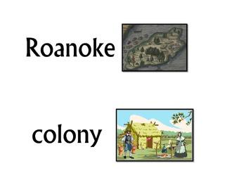 Roanoke Colony Word Wall