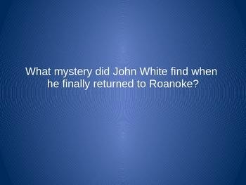 Roanoke - Jamestown - Plymouth Jeopardy
