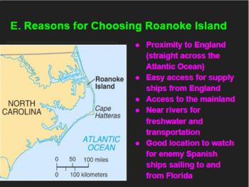 Roanoke/Lost Colony Slideshow/Notes/Google Form Assessment Bundle!