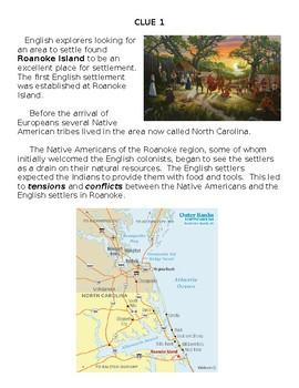 Roanoke Mystery Clues