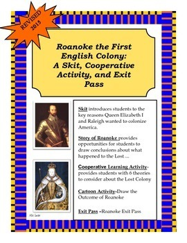 Roanoke, The First English Colony: A Skit and Cooperative Activity