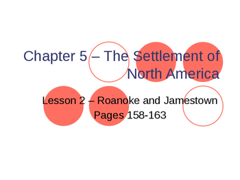 Settlement of North America - Roanoke and Jamestown PowerPoint