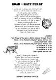Roar Katy Perry lyric sheet
