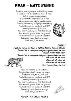 The lyrics to roar by katy perry