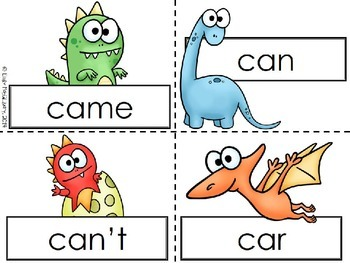 Roar and Stomp: Two Dinosaur Themed High Frequency Word Games