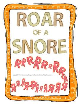 Roar of a Snore Activities