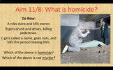 Law - Homicide PowerPoint