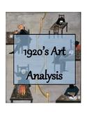 1920's DBQ: Art Analysis