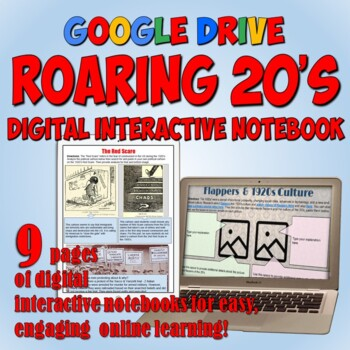 Roaring 20's Google Drive Notebook for Distance Learning
