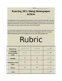 Roaring 20's Slang News Article