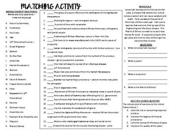 Roaring 20's Study Guide