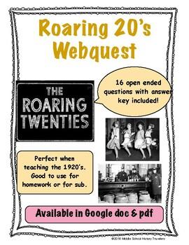 Roaring 20's Webquest (1920's)