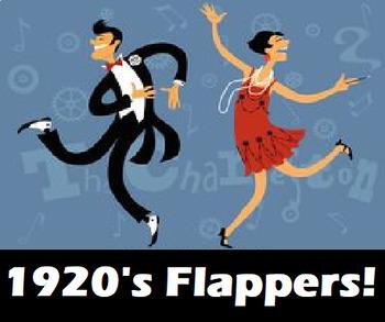 Roaring 20's Women- Flappers PPT, Video, Worksheet FULL LESSON PLAN!