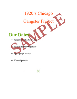 Roaring 20's research project - 1920's Chicago Gangsters