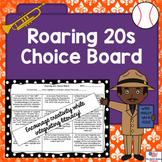 Editable Roaring 20s Choice Board