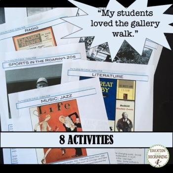 Roaring 20s Curriculum Bundle for 1920s unit including Harlem Renaissance