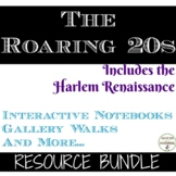 Roaring 20s Curriculum Bundle for 1920s unit including Har