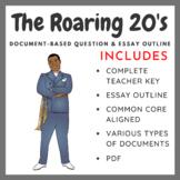 Roaring 20's - Document-Based Question DBQ & Essay Organizer