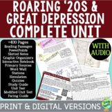 Roaring '20s & Great Depression Curriculum; Distance Learning; Digital Learning
