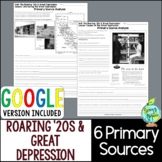 Roaring '20s & Great Depression Primary Sources, 1920s & 1
