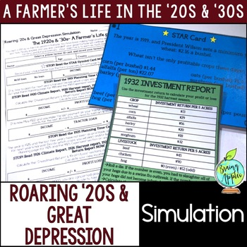 Roaring 20s & Great Depression Simulation, 1920s & 1930s Activity