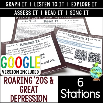 Roaring '20s & Great Depression Station Activities, 1920s & 1930s Stations