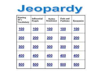 Roaring 20s Jeopardy